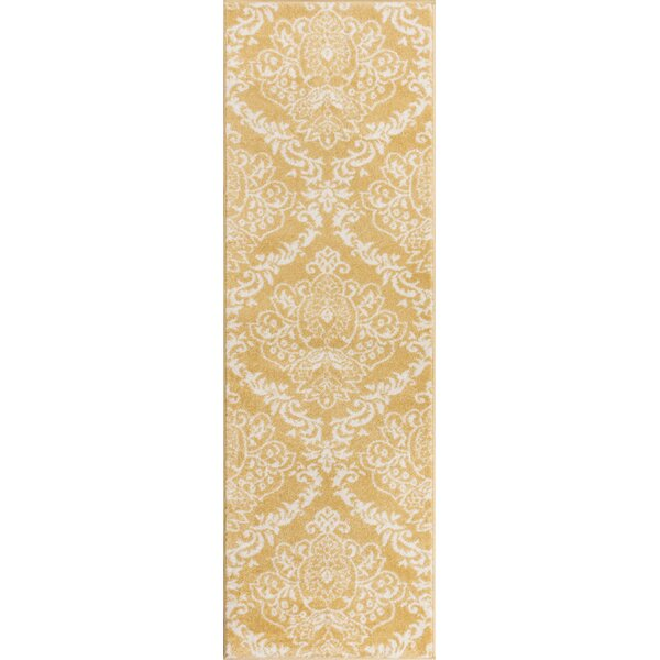 Newquay Magnolia Gold/Ivory Area Rug by House of Hampton