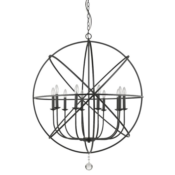 Mortimer 10-Light Candle Style Globe Chandelier By Wrought Studio