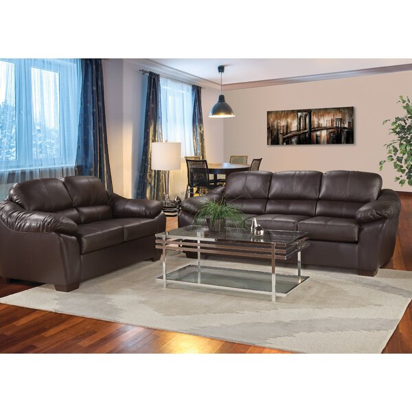 The Pinery Leather Configurable Living Room Set by Loon Peak