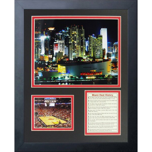 American Airlines Arena Framed Photographic Print by Legends Never Die