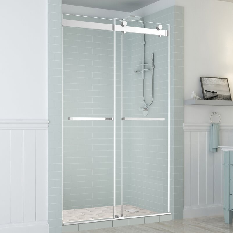 Rivage Double Bypass Sliding Frameless Shower Door