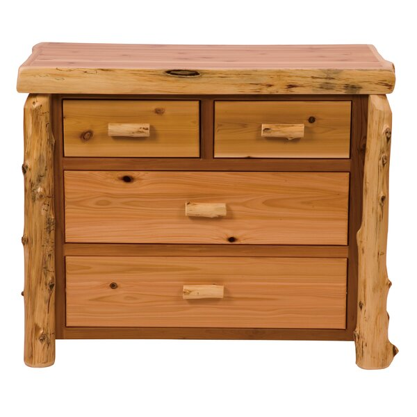 Value Cedar 4 Drawer Standard Dresser/Chest By Fireside Lodge