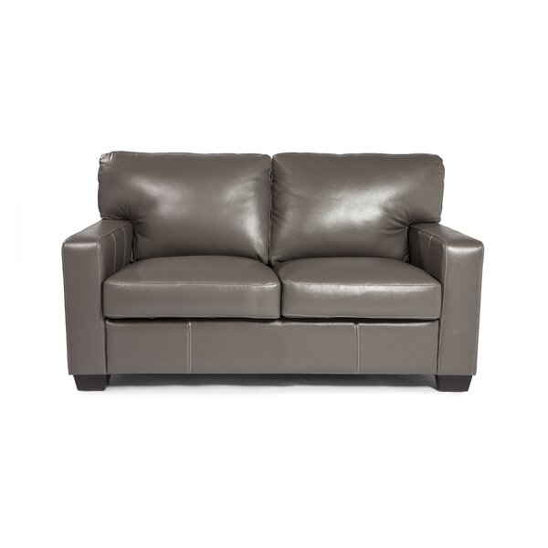 Hillcrest Leather Loveseat by Union Rustic