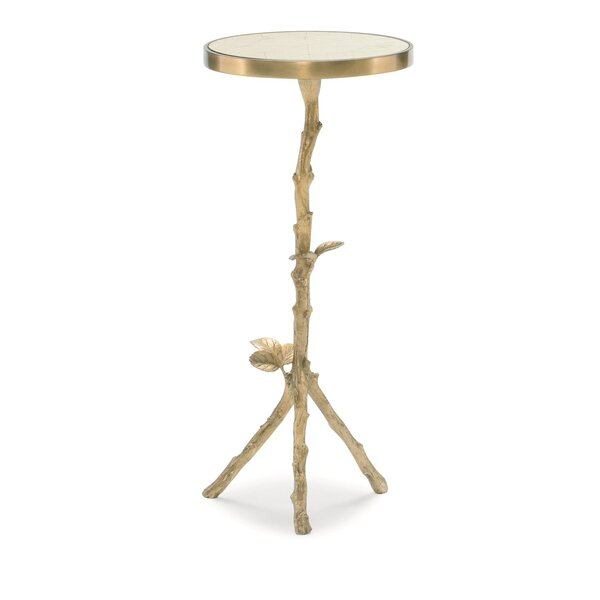 Sticks And Stones Pedestal End Table By Caracole Classic