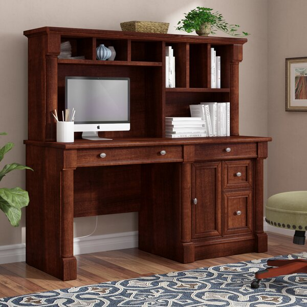 Henley Computer Desk with Hutch by Three Posts