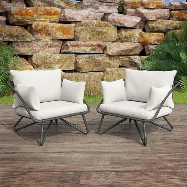 Teddi Patio Chair With Cushions (Set Of 2) By Novogratz by Novogratz Herry Up