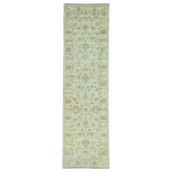 One-of-a-Kind Newbold Peshawar Vegetable Dyes Hand-Knotted Beige Area Rug by Astoria Grand