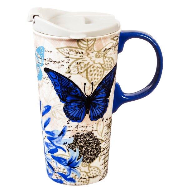Alannah Blue Floral Travel Mug by August Grove