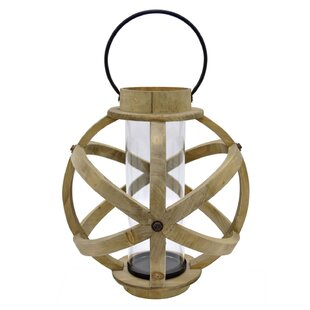 Affordable Wood Lantern By Bungalow Rose