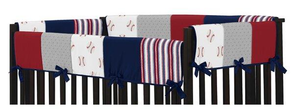 Baseball Patch Crib Rail Guard Cover by Sweet Jojo Designs