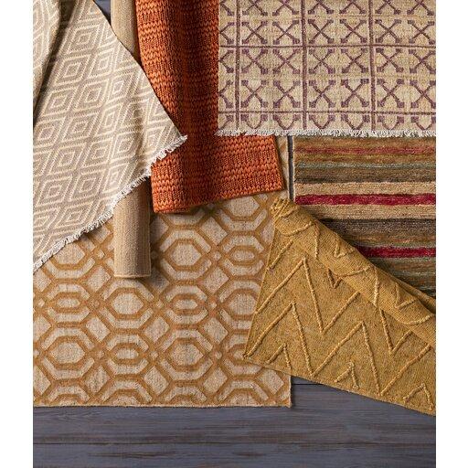 Rachelle Hand-Woven Camel/Beige Area Rug by Zipcode Design