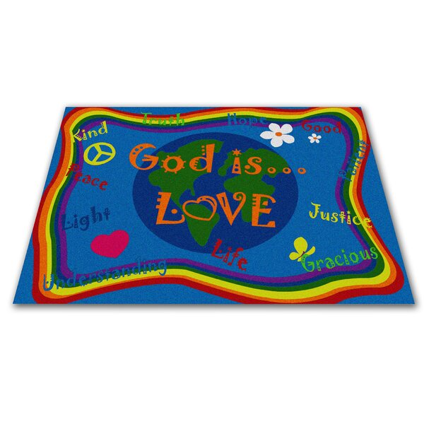 God Is Love Area Rug by Kid Carpet