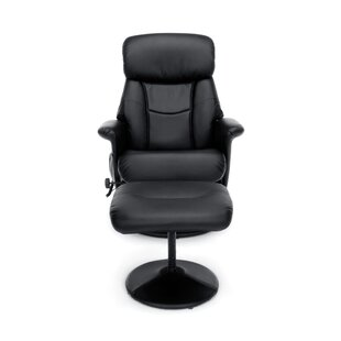 Hillard Heated Massage Leather Executive Chair