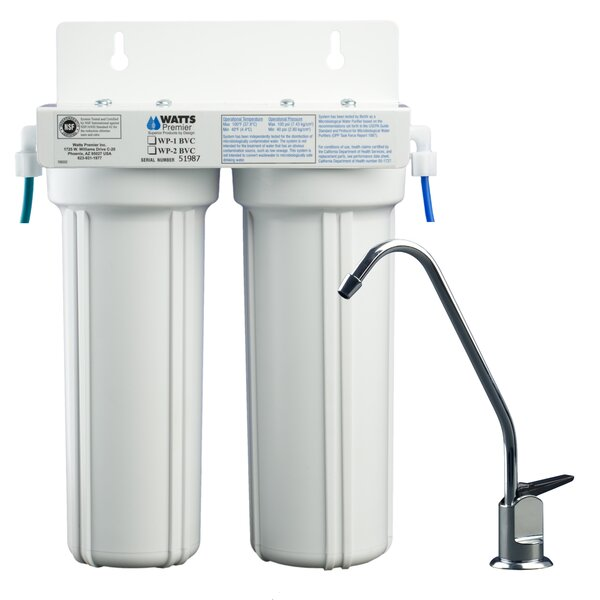 2-Stage Under-Sink Filtration System By Watts Premier.