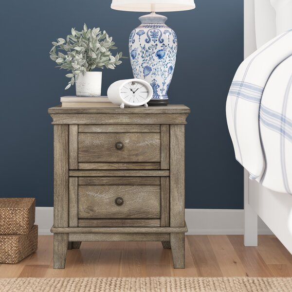 North Andover 2 Drawer Nightstand by Three Posts Baby & Kids