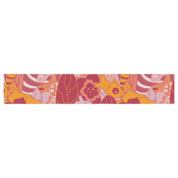 Akwaflorell Fishes Here, Fishes There III Table Runner by East Urban Home