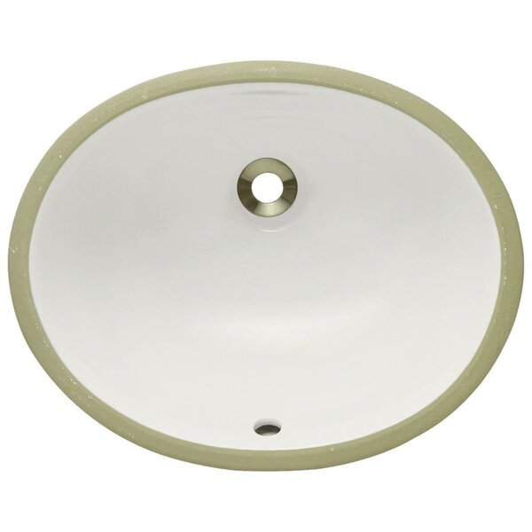 Vitreous China Oval Undermount Bathroom Sink with Overflow by MR Direct