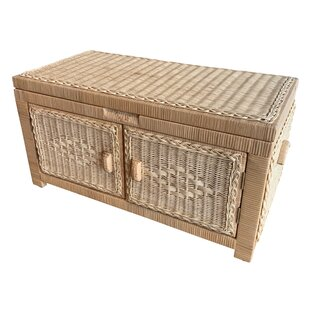 Joyner Wicker Double Open Wood Lined Trunk By Bayou Breeze