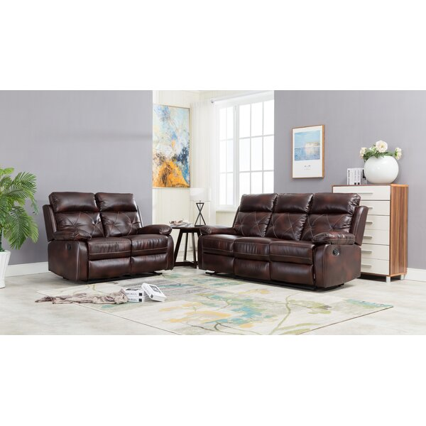 Palmer Square 2 Piece Reclining Living Room Set by Red Barrel Studio