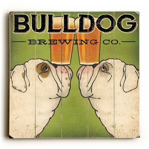 Bulldog Brewing Textual Art by Red Barrel Studio