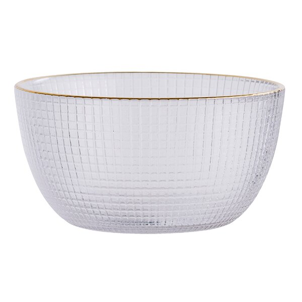 Bilger Glass Bowl with Trim (Set of 6) by Langley Street