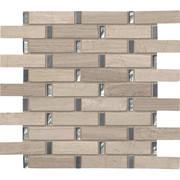 Stella Interlocking Glass/Stone Mosaic Tile in Gray by MSI