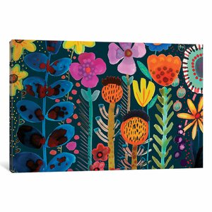 Silk Road Painting Print on Wrapped Canvas by Bungalow Rose
