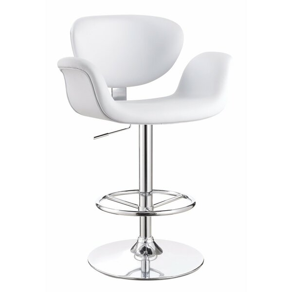 Wraxall Adjustable Height Swivel Bar Stool by Orren Ellis