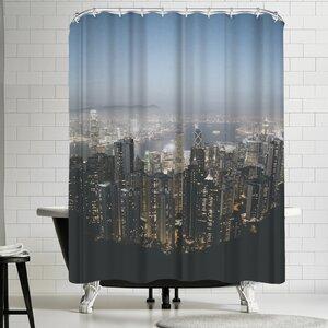 Luke Gram Victoria Peak Hong Kong Shower Curtain East Urban Home