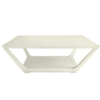 Floor Shelf Coffee Table Storage Saltbox White img