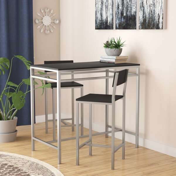 Fauske 3 Piece Pub Table Set by Latitude Run Latitude Run
