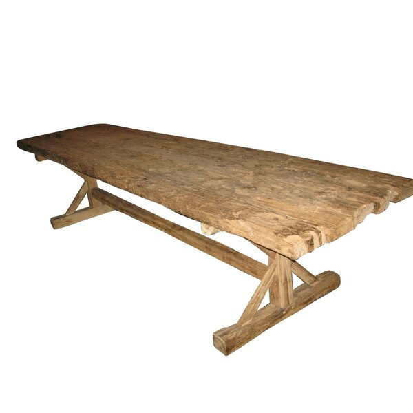 Worle Solid Wood Dining Table by Loon Peak