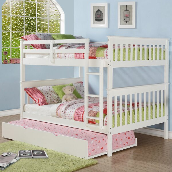 Chinnock Mission Full over Full Bunk Bed with Trundle by Harriet Bee