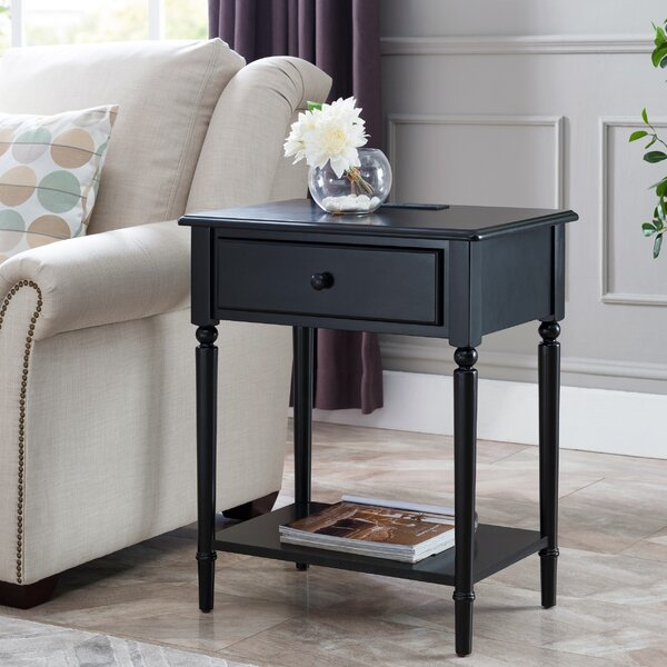 Cavitt 1 Drawer Nightstand by Charlton Home
