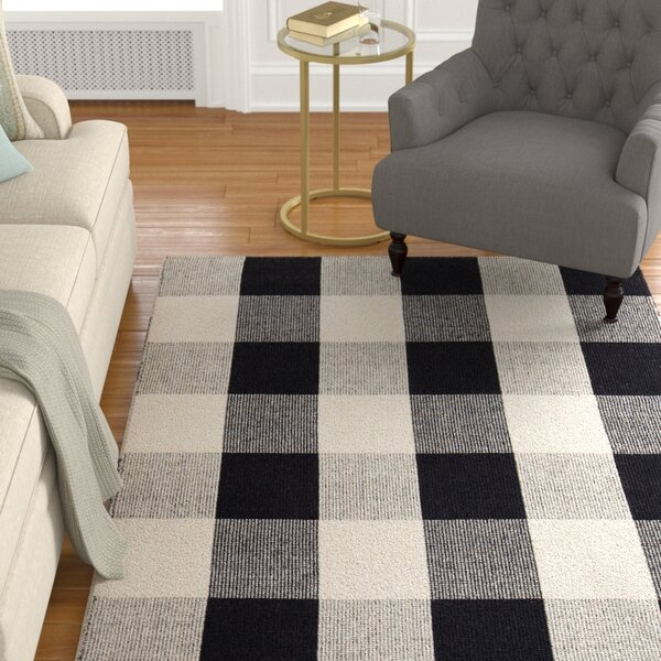 Gage Hand-Woven Black/Ivory Area Rug by Alcott Hill