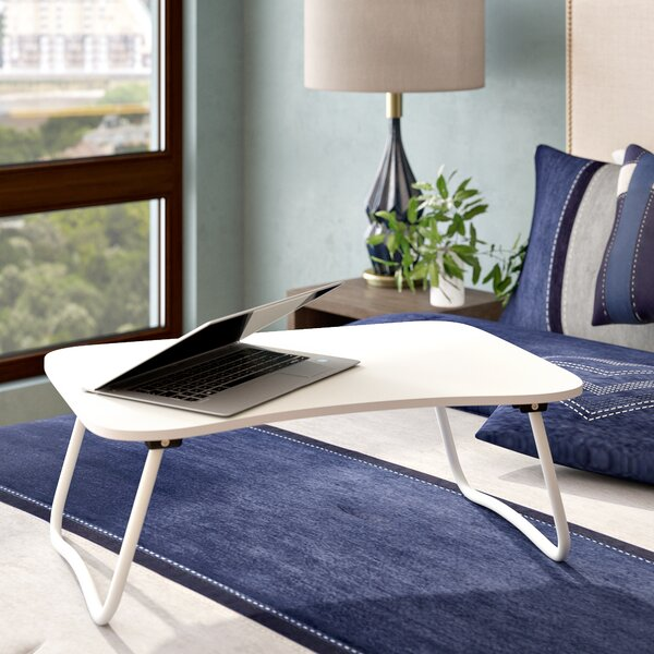 Portable Desk with Foldable Bottom Legs Laptop Tray by Symple Stuff| @ $53.99