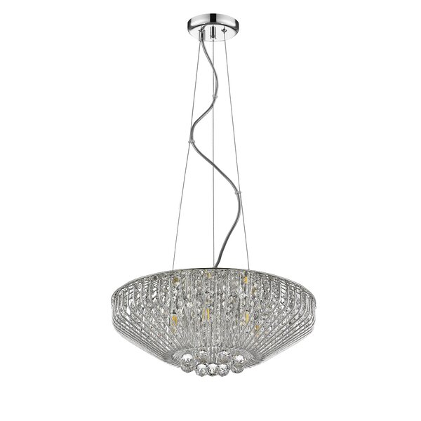Mio 7 - Light Unique Empire Chandelier with Wrought Iron Accent by Ove Decors Ove Decors