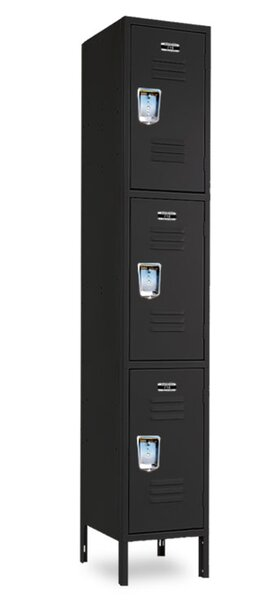 3 Tier 1 Wide Employee Locker by Jorgenson Lockers3 Tier 1 Wide Employee Locker by Jorgenson Lockers