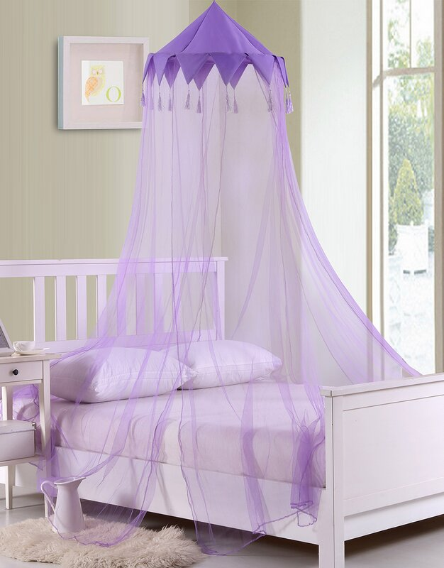 Harlequin Kids Collapsible Hoop Sheer Bed Canopy & Casablanca Kids Harlequin Kids Collapsible Hoop Sheer Bed Canopy ...