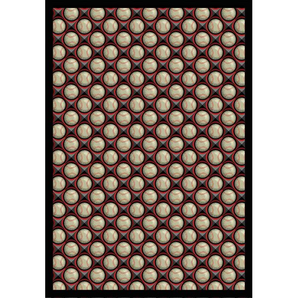 Red/Beige Area Rug by The Conestoga Trading Co.