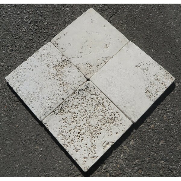 Alabastrino Tumbled 8x8 Travertine Field Tile