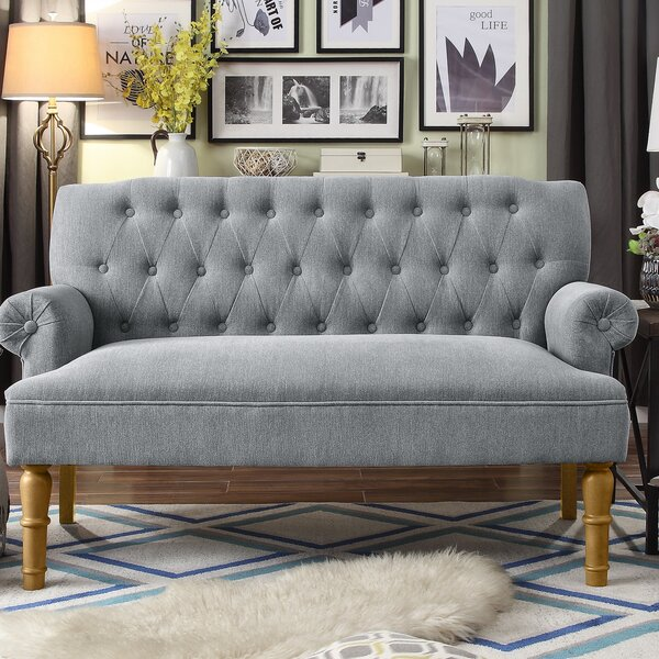 Bjorn Chesterfield Settee by Andover Mills