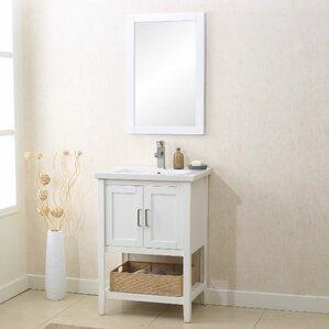 24 vanity cabinet with sink. Annabel 24  Single Bathroom Vanity Set with Mirror Inch Vanities You ll Love Wayfair