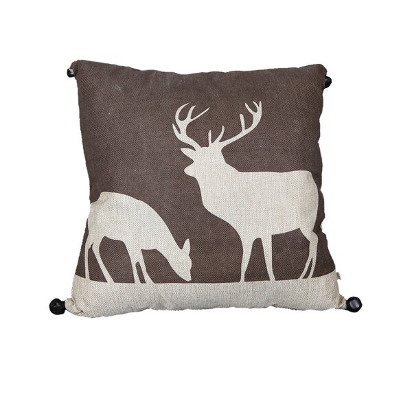 Reindeer Throw Pillow by The Holiday Aisle