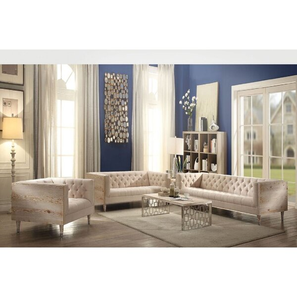Hermione 2 Piece Living Room Set by One Allium Way