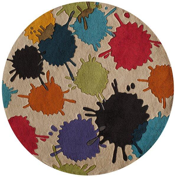 Felicia Hand-Tufted Brown/Blue Kids Rug by Viv + Rae