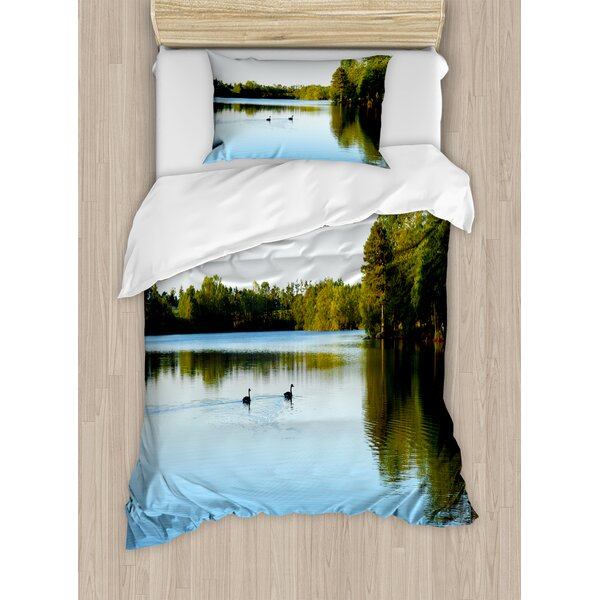 Outdoor View from Carate Urio Town Lake Como Alps Italy Panorama European Rural Countryside Duvet Set by Ambesonne