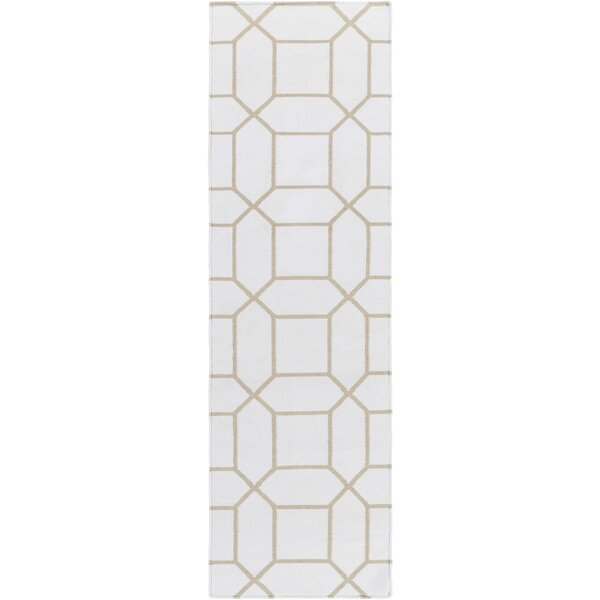 Larksville Hand-Woven Neutral Outdoor Area Rug by Charlton Home