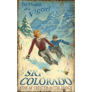 Ski Colorado Vintage Advertisement Plaque by Red Horse Arts