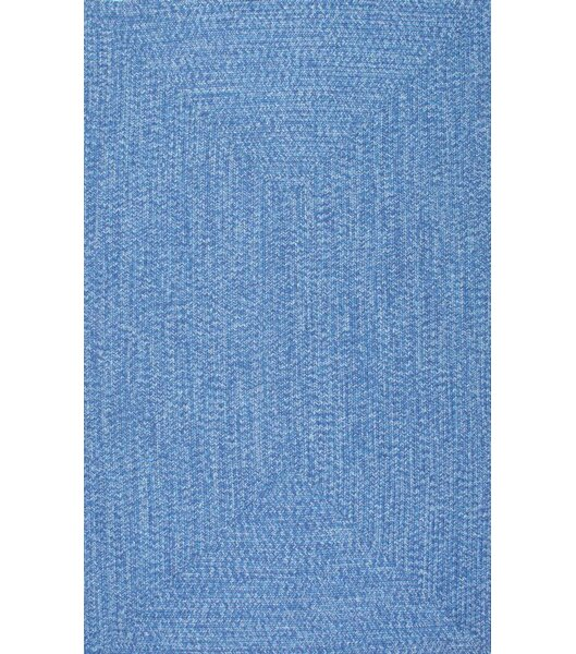 Norgate Hand-Braided Blue Indoor/Outdoor Area Rug by Laurel Foundry Modern Farmhouse